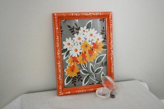 SALE - Orange, Shabby Chic, Flea Market Fancy Frame