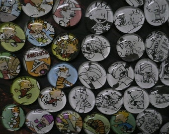 The Original CALVIN and HOBBES Black and White Magnets