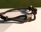 His/ Hers Square Nut Leather Bracelet