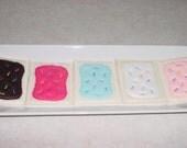 Felt Food - 5 Piece Poptart Set with Icing & Multi Colored Sprinkles Felt Play Food