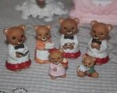 Set of 6 / Vintage Homco Figurines