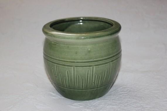Vintage Green Flower / Planter Pot / Vase / Pencil