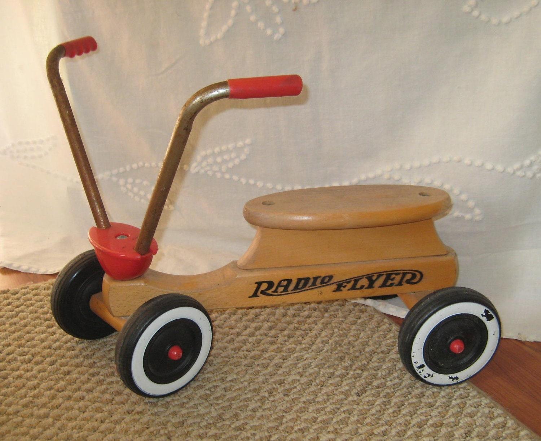 Childs Vintage Radio Flyer Push Bike Reserved