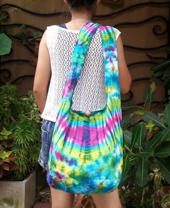 Handmade Tie Dye bag Cotton Bag Hippie bag Hobo bag Boho  bag Shoulder bag Sling bag Messenger bag Tote bag Crossbody Purse