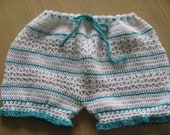 Crochet Pattern for Bloomers Diaper Cover Soaker, Baby Girl, PDF 12-073 INSTANT DOWNLOAD