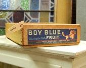 Vintage Boy Blue Washington State Fruit Crate