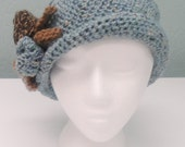 Womens Dowton Abbey Crochet Flapper Hat one size fits all made to order