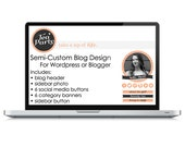 "Semi-Custom ""Tea Party"" Blog Design Graphics Set"