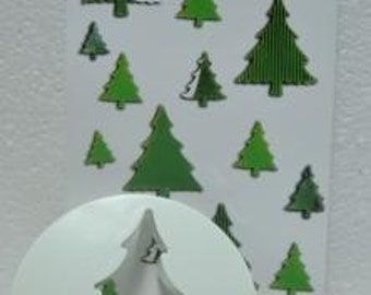 3 Pcs Sugarcraft Cake Decoration Christmas Tree Cutter (ZN1015)