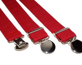 Red Adjustable Suspenders