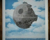 Giclèe print signed limited ed. Star wars inspired. Fine art print of my original painting, Magritte's parody