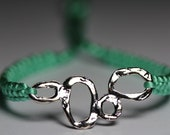 Mint green bracelet with bubbly silver finding