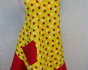 Yellow Lady Bug Apron for Mom