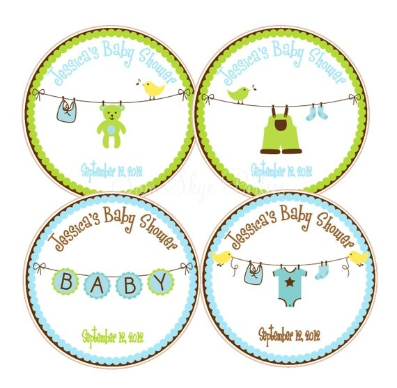 cute boy baby shower favor tags baby showers or 1st birthday parties