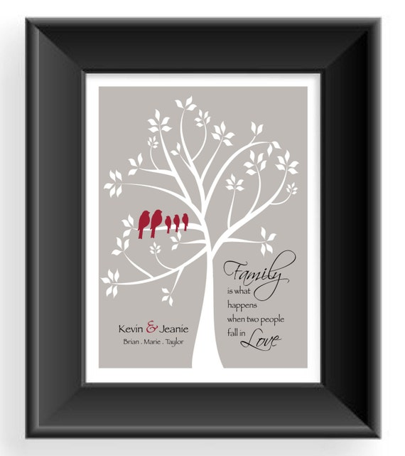 family tree wall art personalized gift for family. Black Bedroom Furniture Sets. Home Design Ideas
