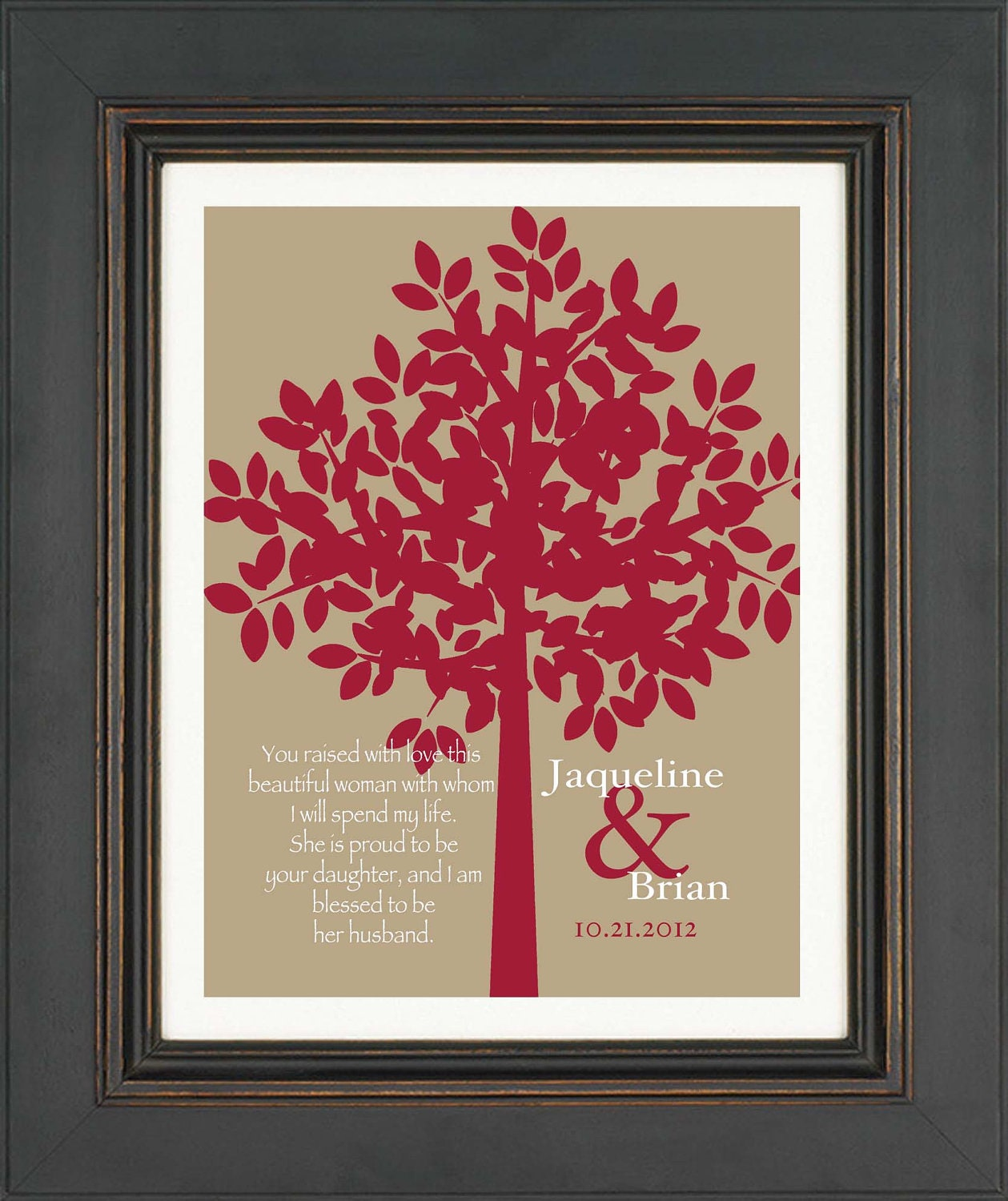 Wedding Gift From Parents To Son : Wedding Gift for Parents from Son-in-Law by KreationsbyMarilyn
