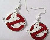 Ghostbuster Logo Earrings