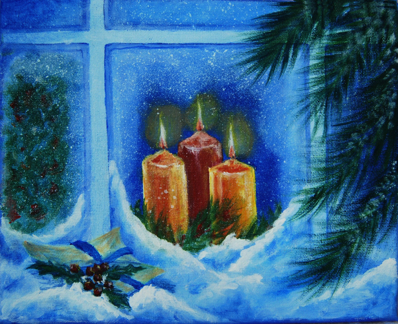 weihnachten wandkunst original acrylbild weihnachtsgeschenk