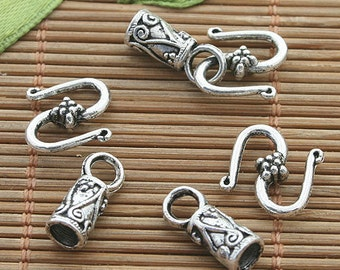 20sets dark silver tone S toggle clasps h3273