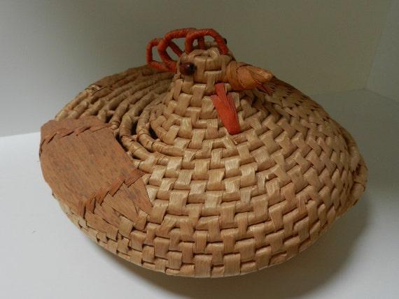 Wicker Chicken Basket