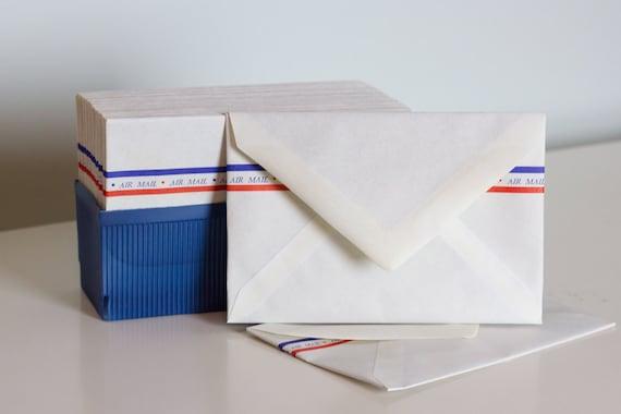 Vintage Air Mail pack of 28 4 x 6 envelopes