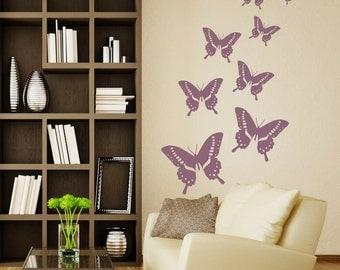 Wallsticker  - Butterflies (sommerfugle,vlinders,sommerfugler,fjärilar,бабочки) (046n)