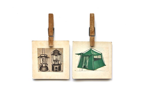 Head Outdoors - Vintage Tent, Vintage Coleman Camping Fine Art Photography Print - For Him - Adventure - Outdoors - Green - Hiking - Travel