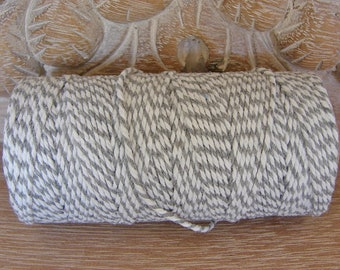 Baker's Twine - Gray and White Twine - Full 100 Yard Spool
