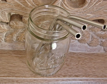 Discount - Stainless Steel Drinking Straws - Re Usable and Eco Friendly - 8 straws