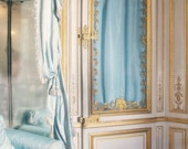 Marie Antoinette Decor - Art Photography, Versailles France - French, Paris - White, Romantic, French Fairytale, Blue and Gold, Rococo