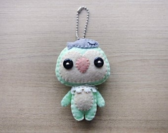 Felt Keychain -  stocking stuffer -  cute accessories -  Kawaii - Penguin plush - READY TO SHIP