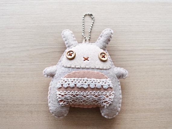 Felt - keychain - Bunny plush Keychain - felt keychain - Kawaii keychain - READY TO SHIP