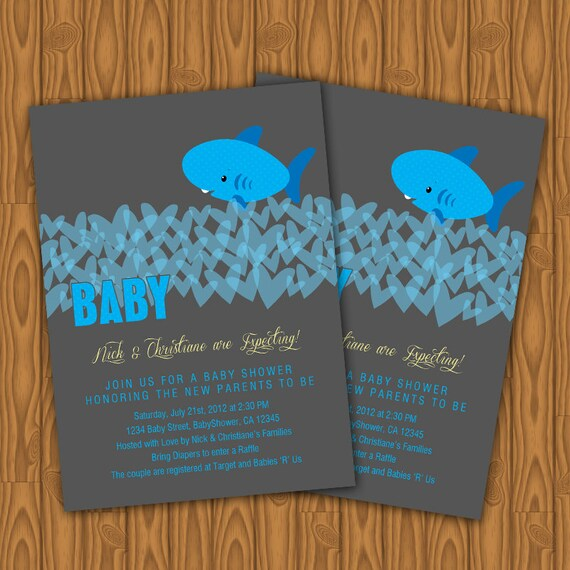 items similar to shark baby shower invitations diy printable on etsy