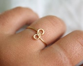 Infinity Ring Hammered Brass