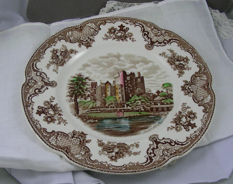 Brown transferware plate johnson bros old britain castles - Johnson brothers vajilla ...