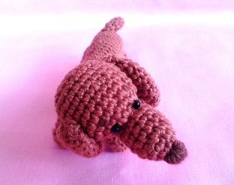 Bella the Little Mini Dachschund Amigurumi PDF pattern