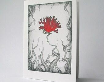 Seaweed Flower - greeting card