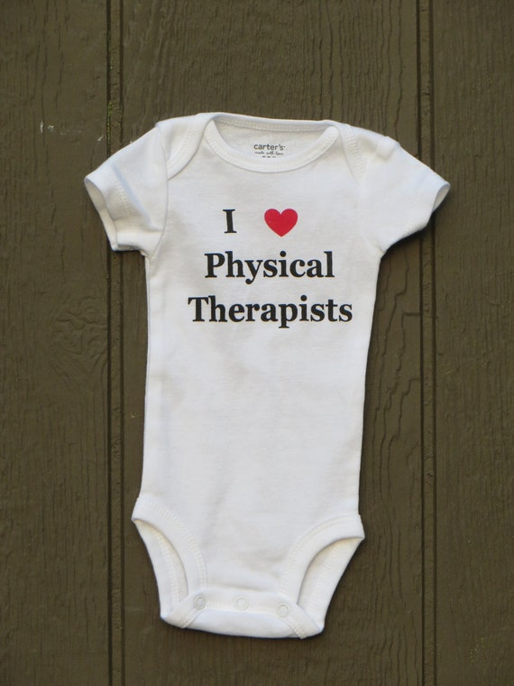 "Baby Bodysuit ""I heart Physical Therapists"""