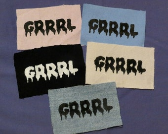 GRRRL Patches