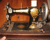 Antique Vintage Sewing Machine by Jones 1900-1920's with case