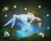 Alice's Slumber - surreal fantasy Lewis Carroll photograph print signed - 8x12