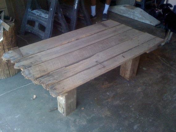 Items Similar To Barn Door Coffee Table On Etsy