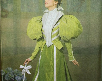 Designer Dress Circa 1895 by Andrea Schewe Simplicity Pattern 4156  Uncut   Size 6-8-10-12, 14-16-18-20