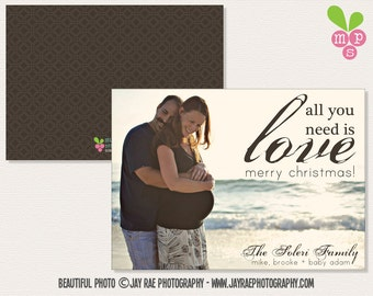 All You Need Is Love Photo Holiday Card