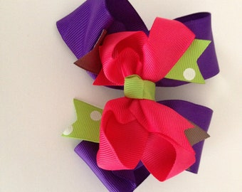 Hair bow with alligator clip and band