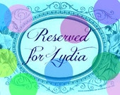 Reserved Item for Lydia