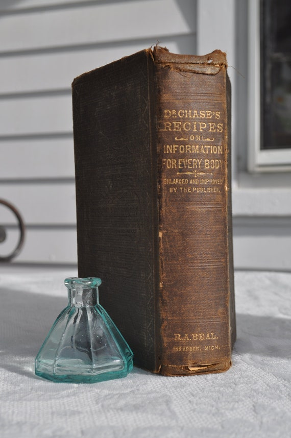 Dr. Chase's Recipes, or, Information for Everybody by A.W. Chase MD - 1881 - Antiquarian Book