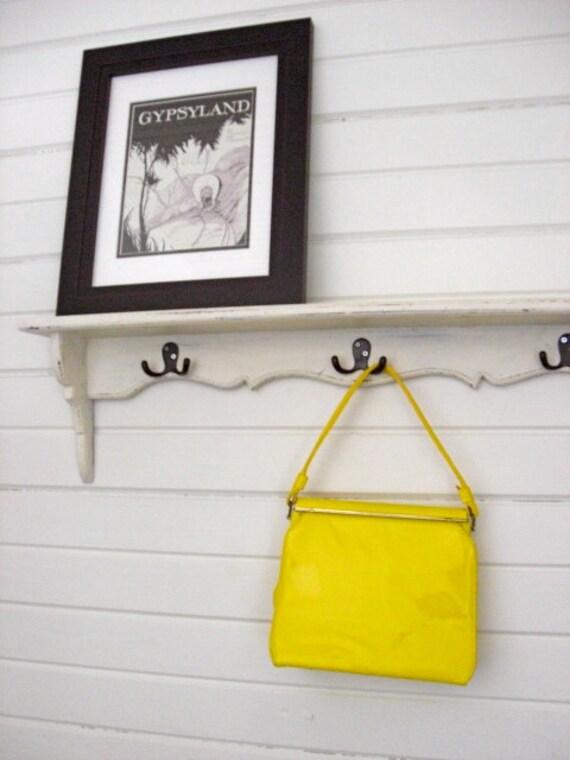 Vintage 1950s Neon Yellow Patent Purse
