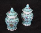 Pair Of Miniture Chinese Urns