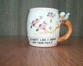 Tweet Like a Birdie for your Milk Child's Vintage Mug